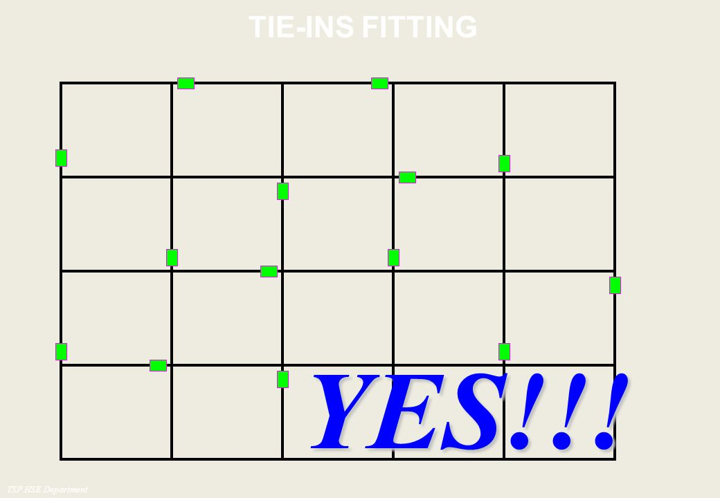 TIE-INS FITTING YES!!! TSP HSE Department
