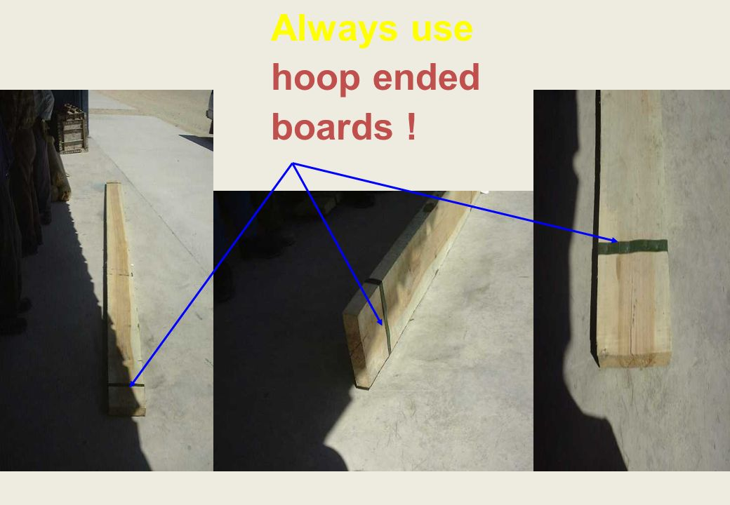 Always use hoop ended boards !