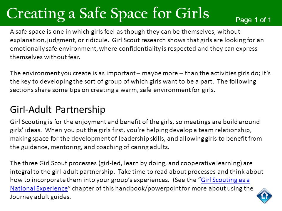 Creating a Safe Space for Girls