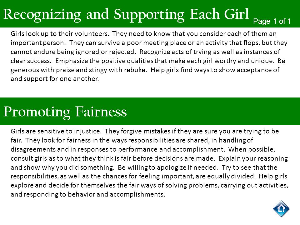 Recognizing and Supporting Each Girl