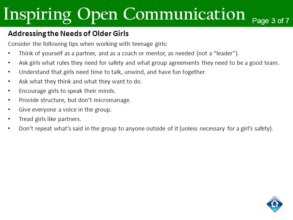 Inspiring Open Communication