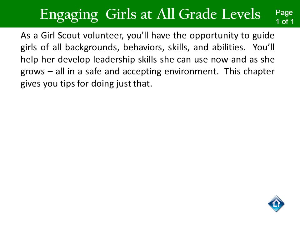 Engaging Girls at All Grade Levels