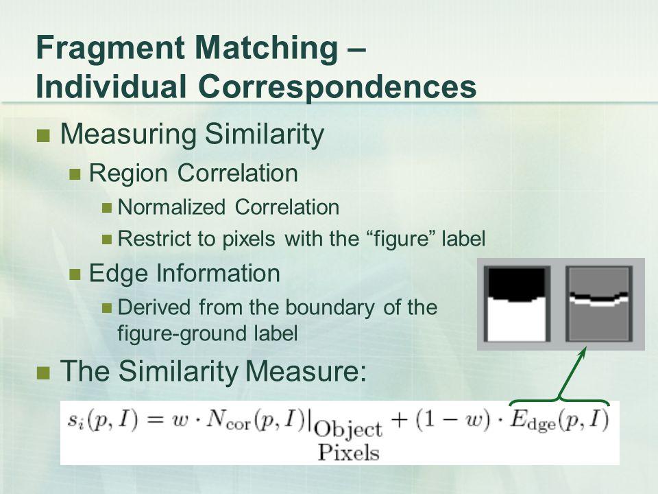 Fragment Matching – Individual Correspondences