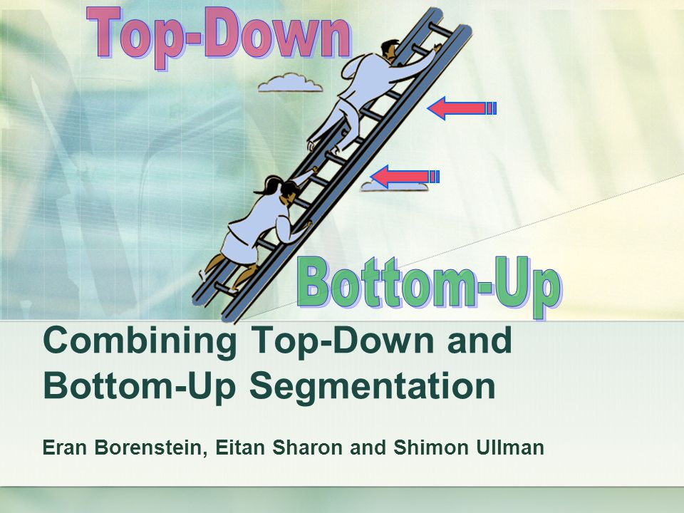 Combining Top-Down and Bottom-Up Segmentation