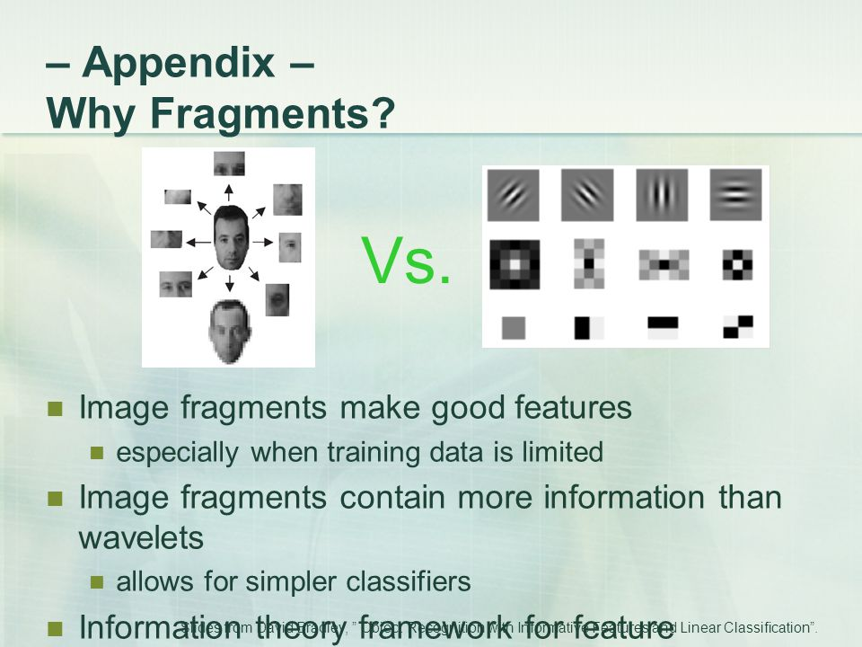 – Appendix – Why Fragments