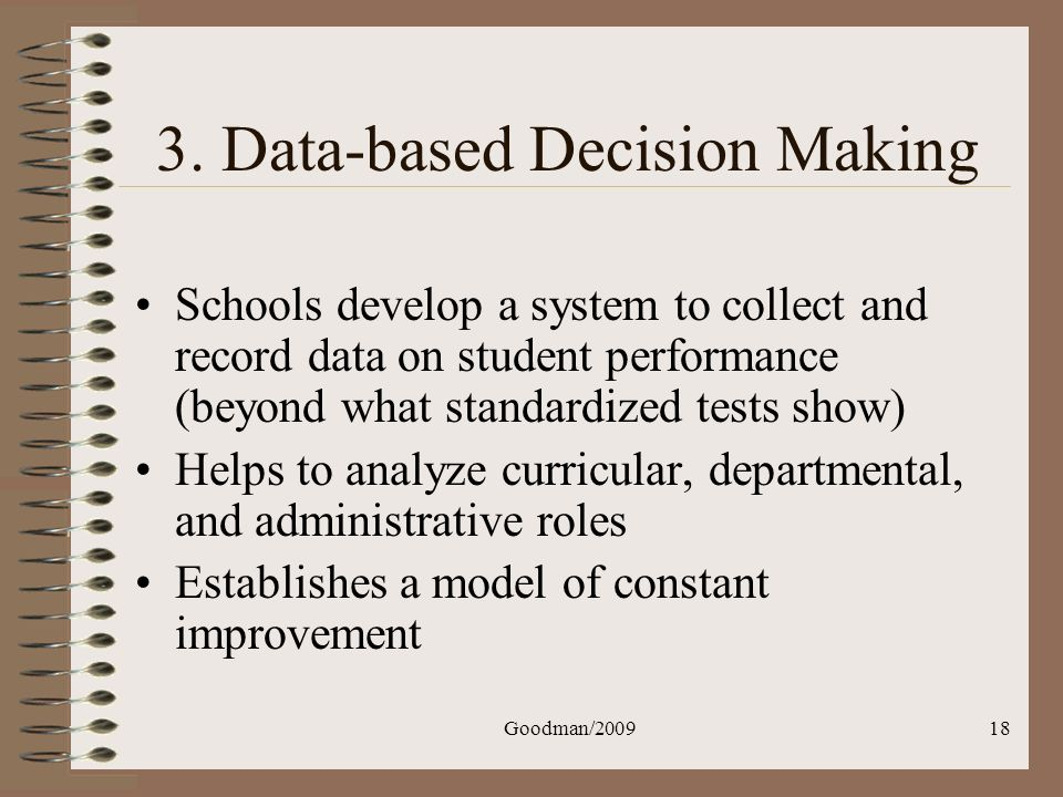 3. Data-based Decision Making