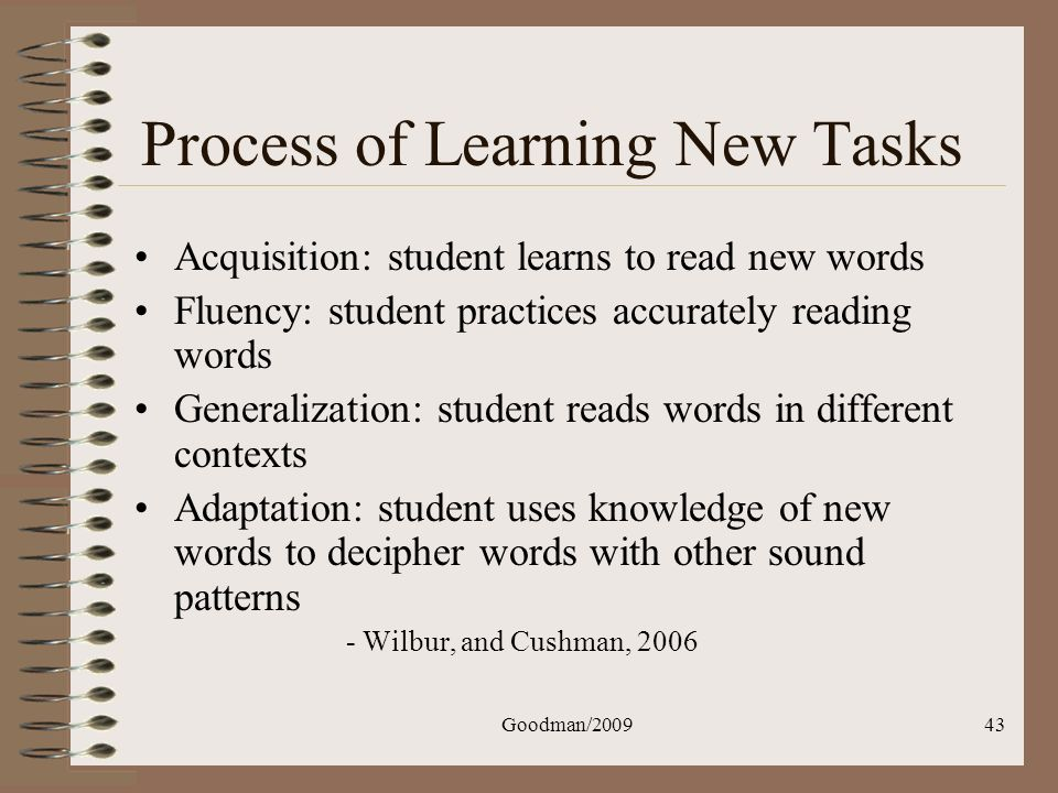 Process of Learning New Tasks