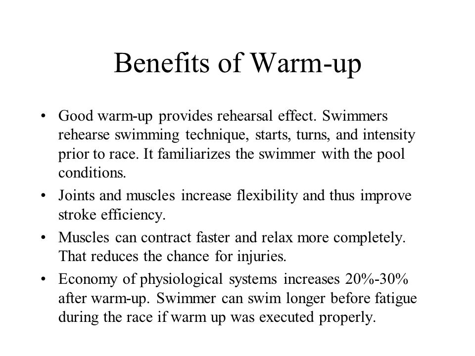Benefits of Warm-up