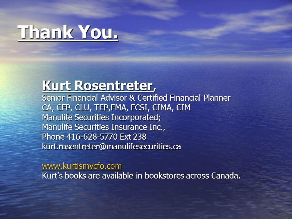 Thank You. Kurt Rosentreter,