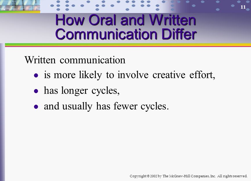 How Oral and Written Communication Differ