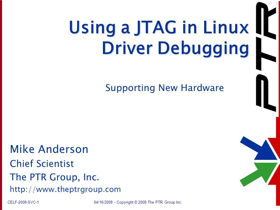 Using a JTAG in Linux Driver Debugging