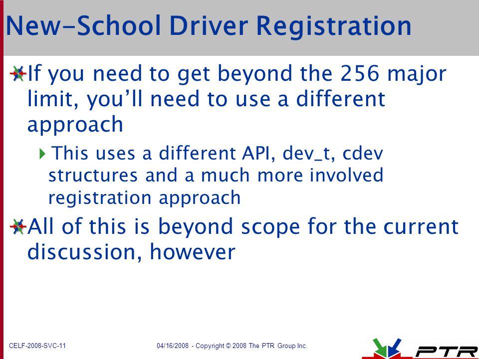 New-School Driver Registration