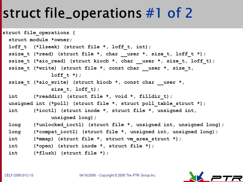 struct file_operations #1 of 2