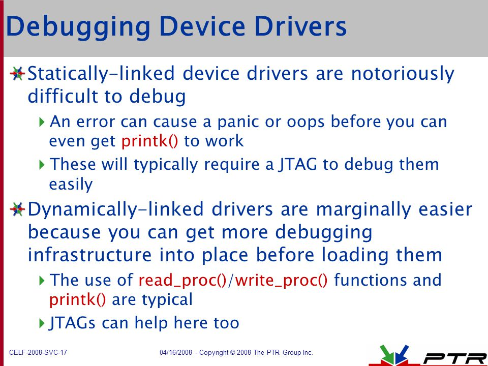 Debugging Device Drivers