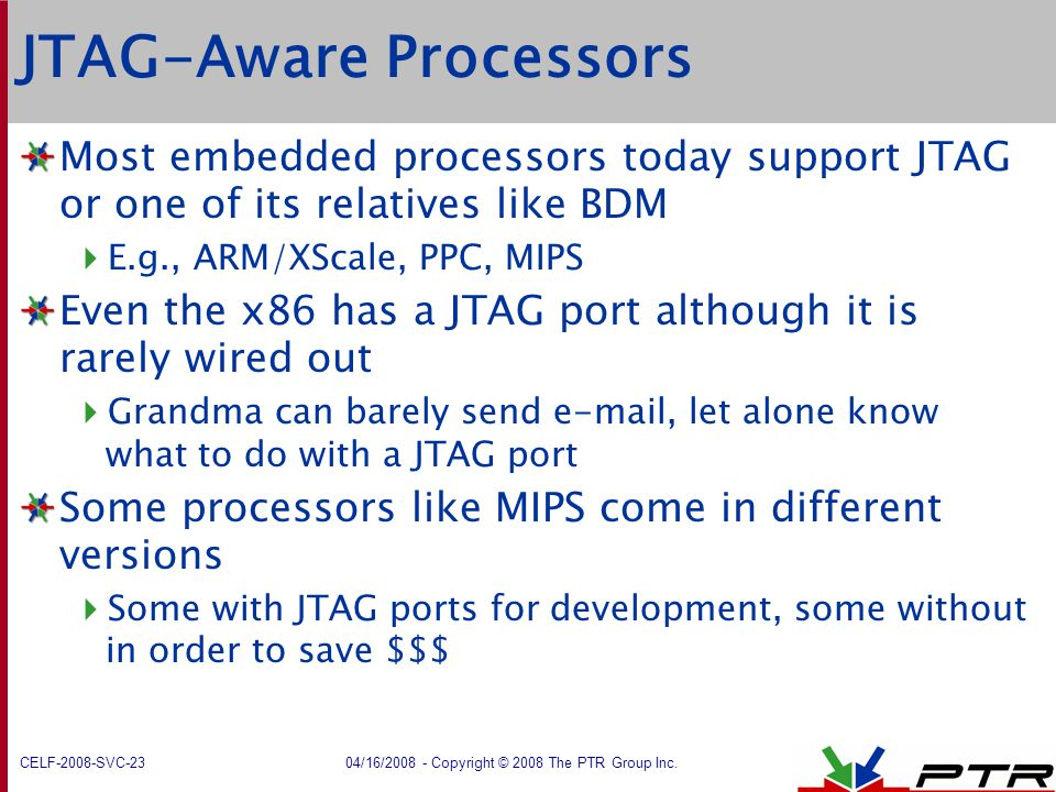 JTAG-Aware Processors
