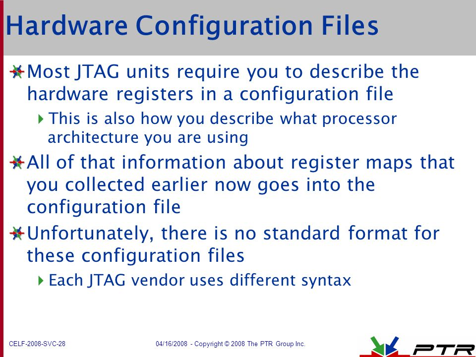 Hardware Configuration Files