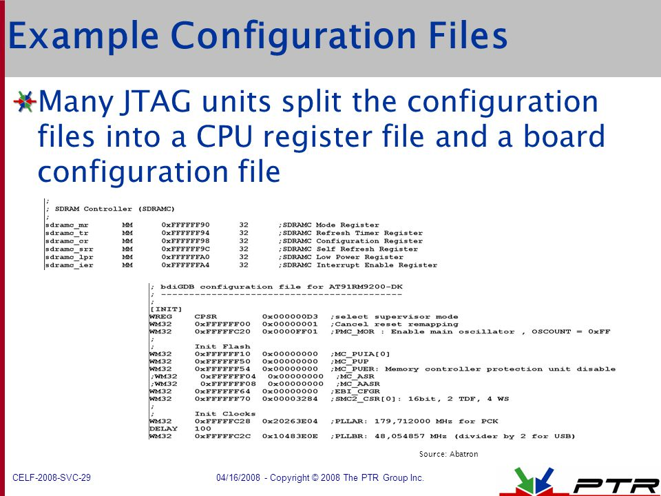 Example Configuration Files