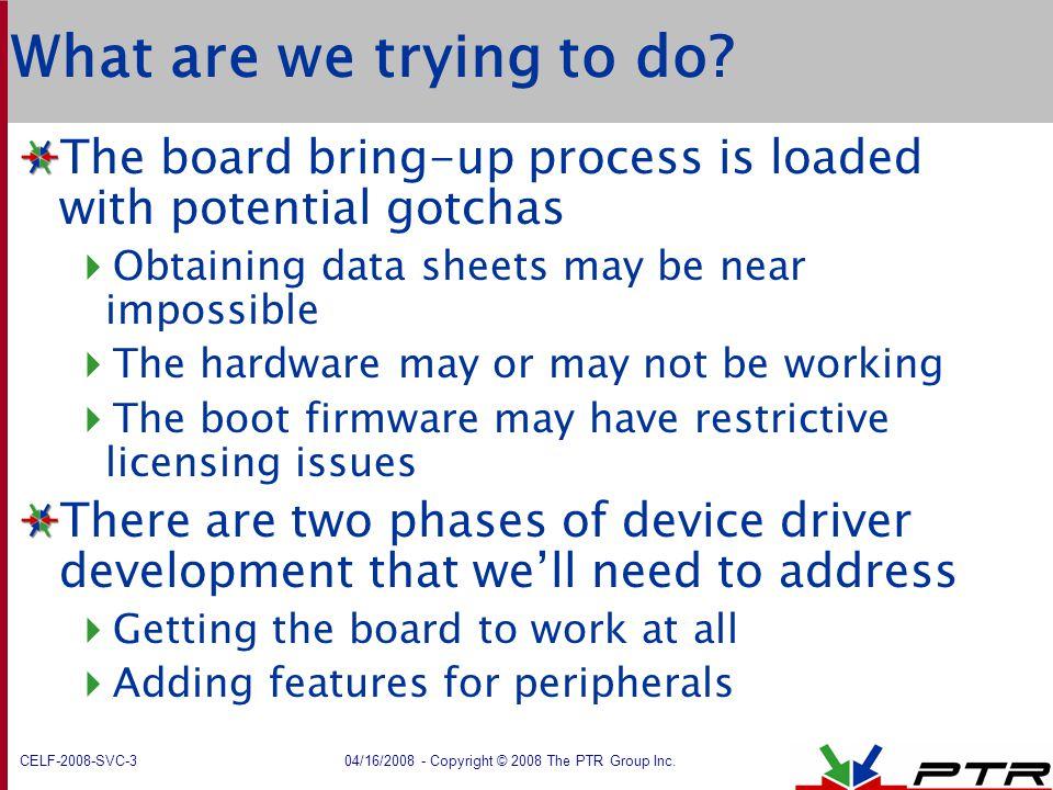 What are we trying to do The board bring-up process is loaded with potential gotchas. Obtaining data sheets may be near impossible.