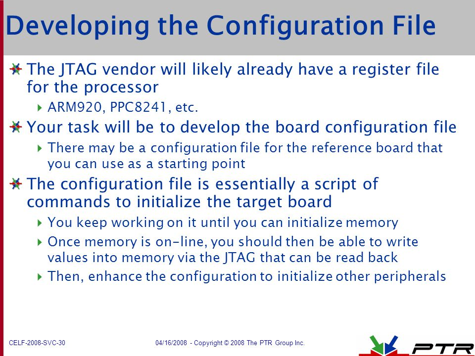 Developing the Configuration File