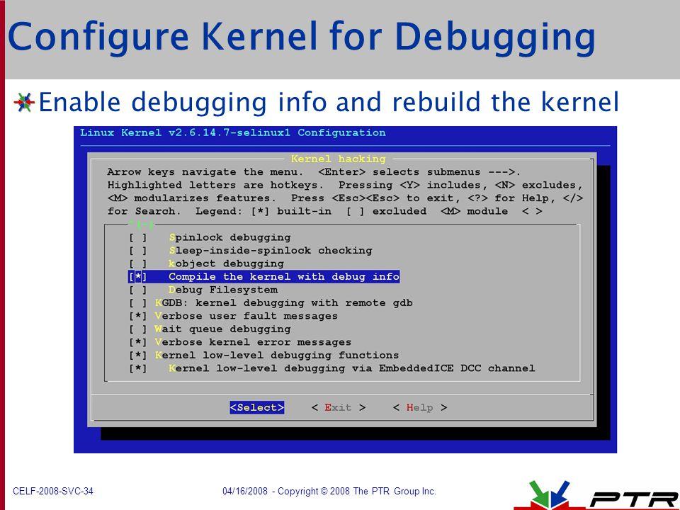 Configure Kernel for Debugging