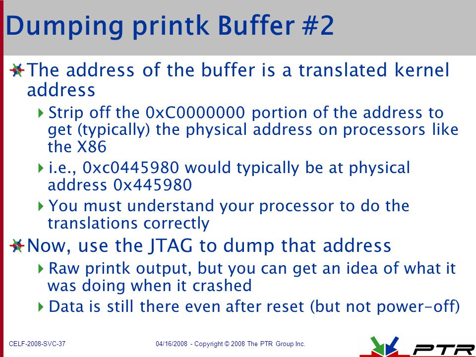 Dumping printk Buffer #2