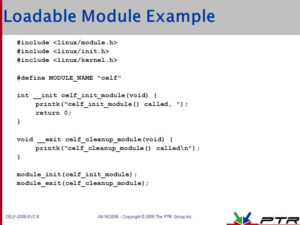Loadable Module Example