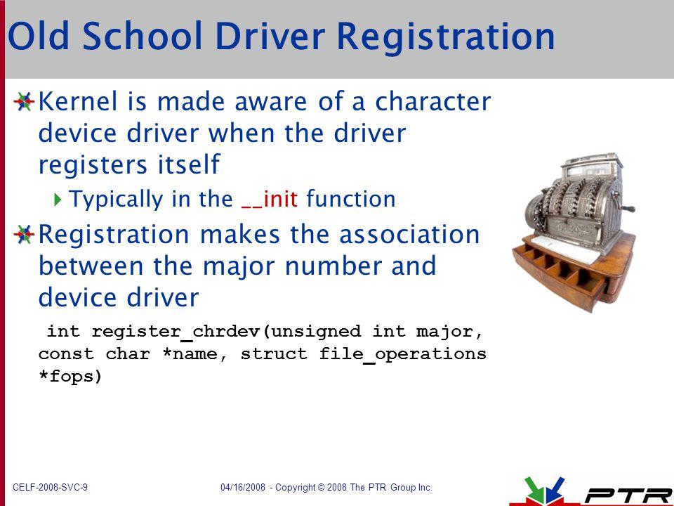 Old School Driver Registration