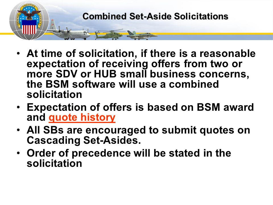Combined SA Solicitation