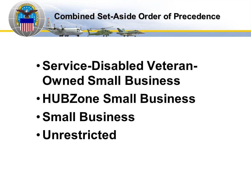 Combined SA Order of Precedence