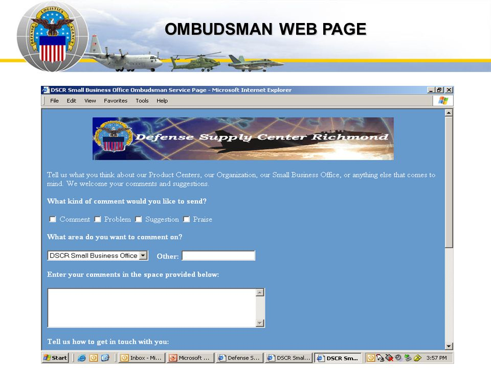 Auto IDPOs OMBUDSMAN WEB PAGE
