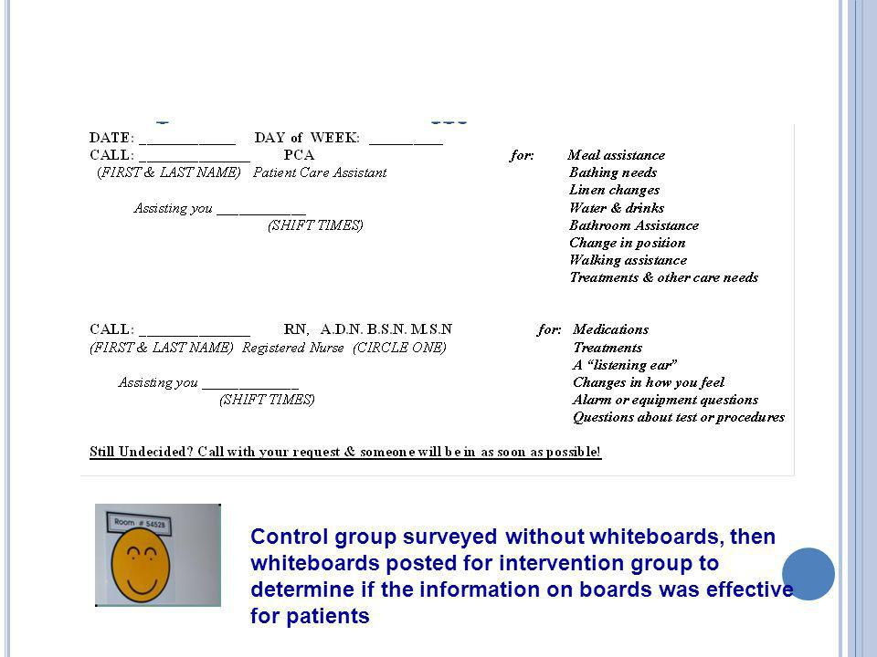 Identification Whiteboards
