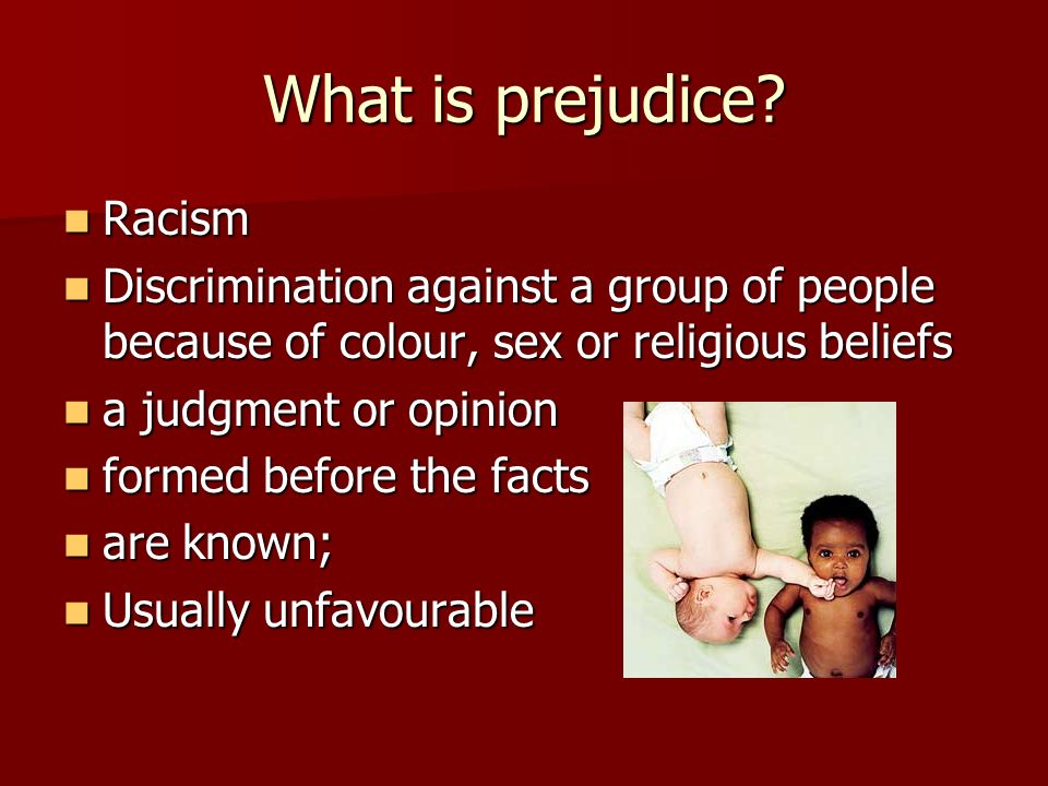 What is prejudice Racism