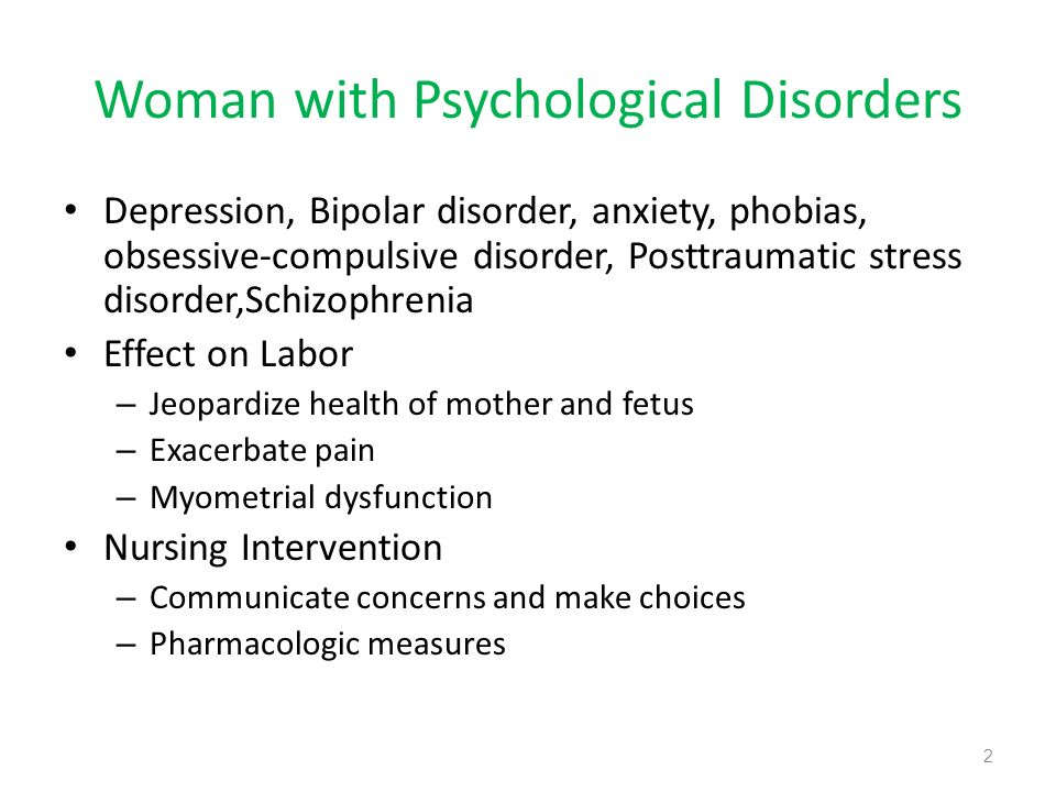 Woman with Psychological Disorders
