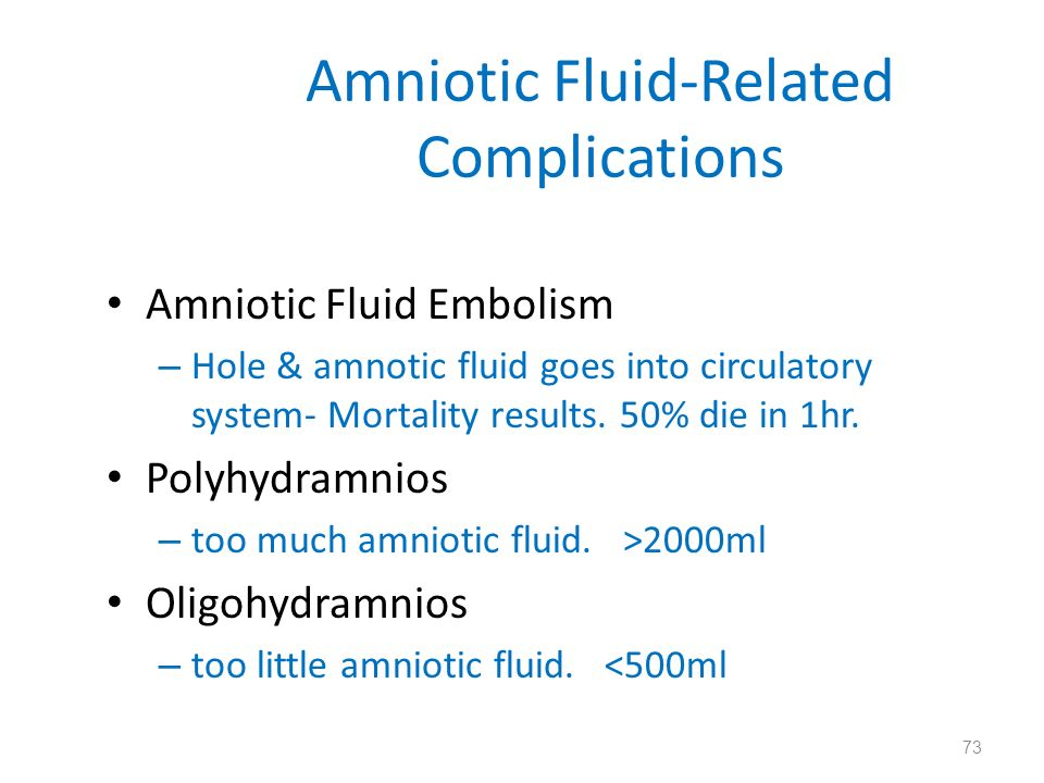 Amniotic Fluid-Related Complications