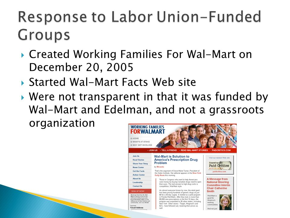 Response to Labor Union-Funded Groups