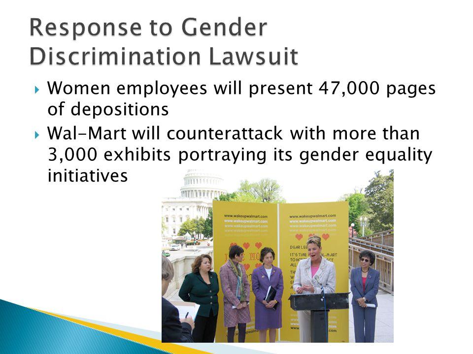 Response to Gender Discrimination Lawsuit