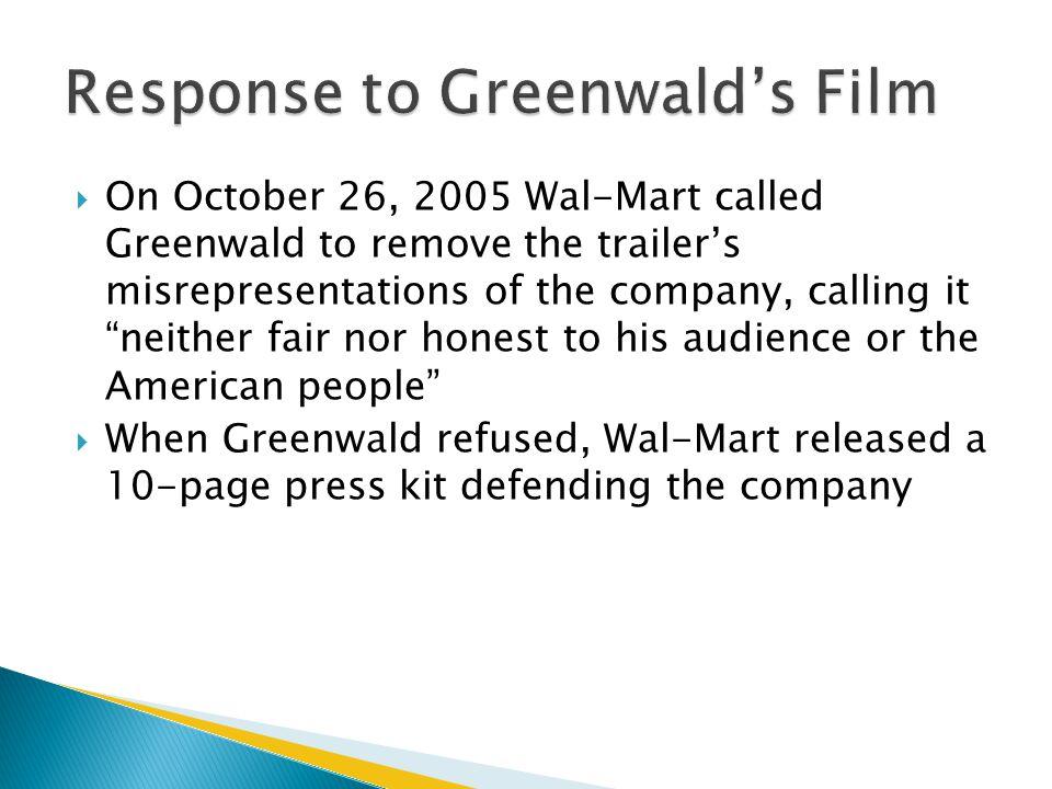 Response to Greenwald's Film