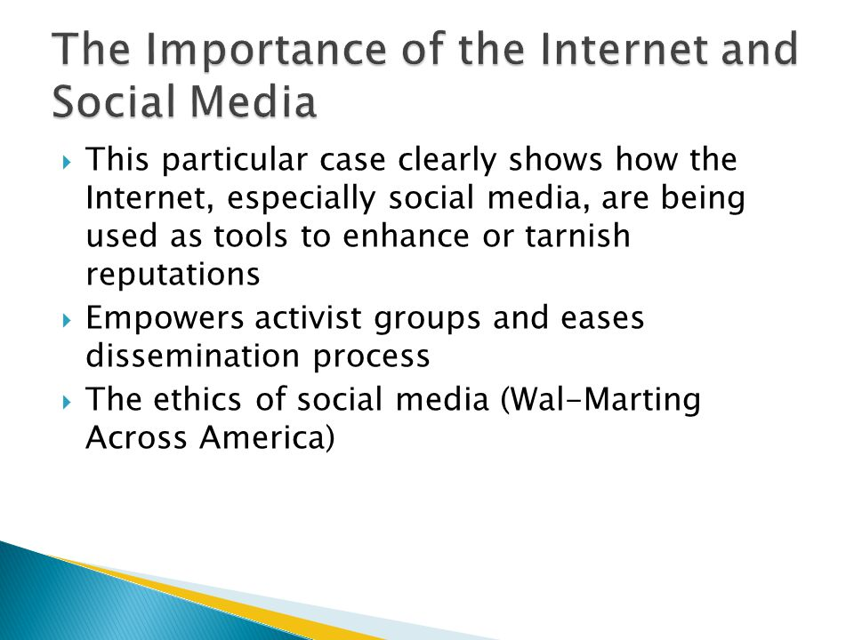 The Importance of the Internet and Social Media