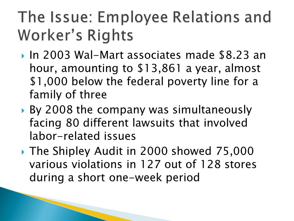 The Issue: Employee Relations and Worker's Rights