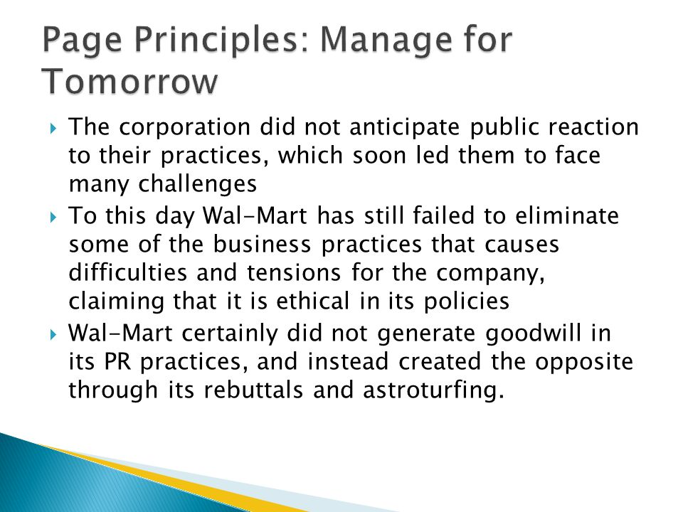 Page Principles: Manage for Tomorrow
