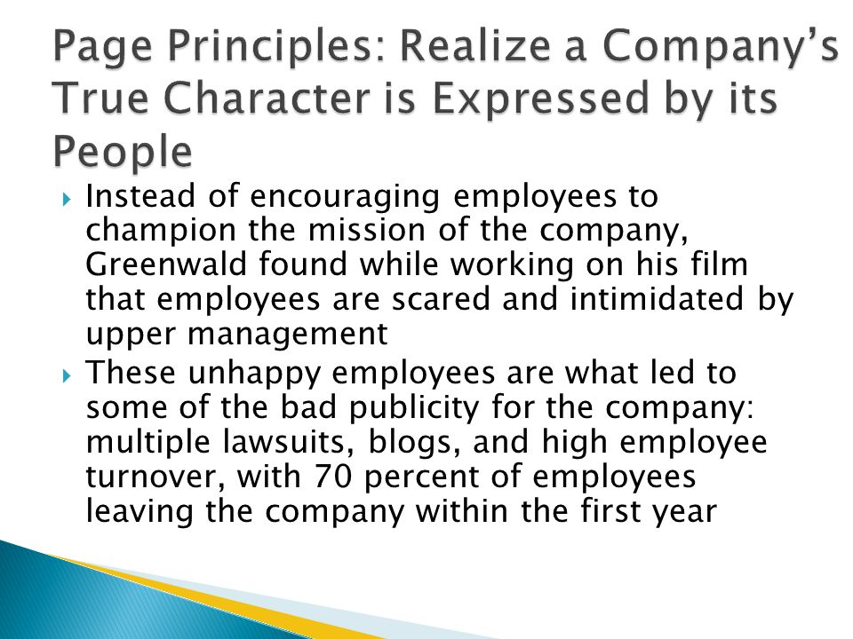 Page Principles: Realize a Company's True Character is Expressed by its People