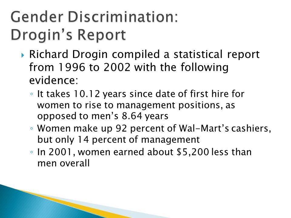 Gender Discrimination: Drogin's Report