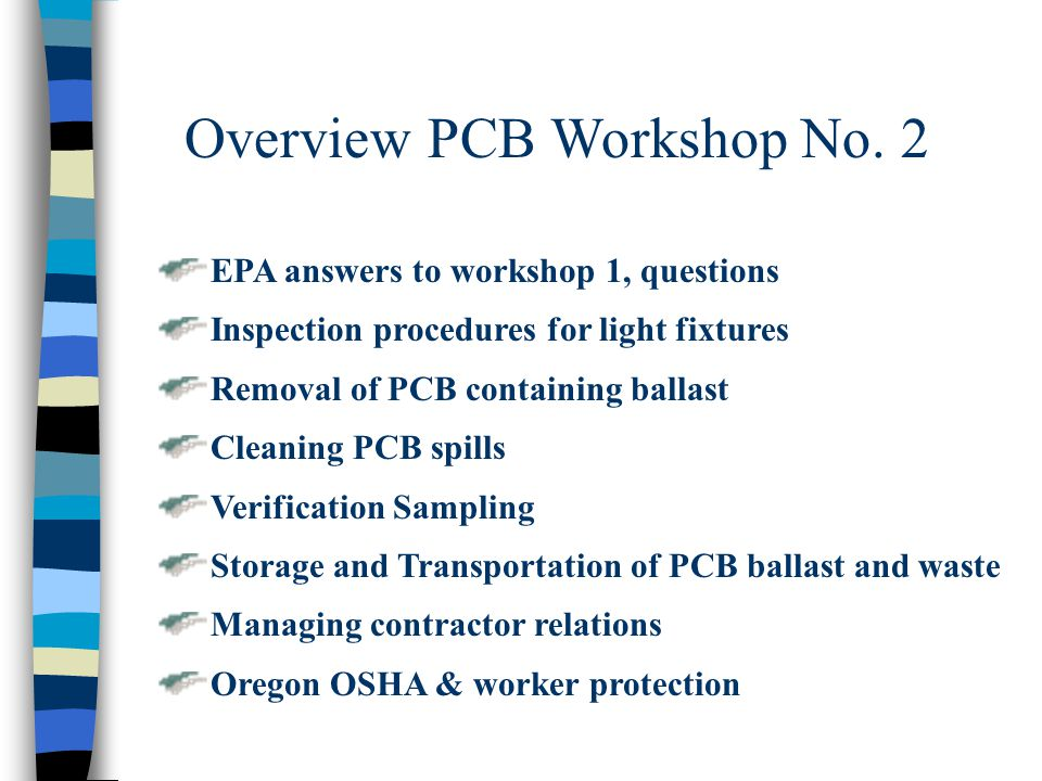 Overview PCB Workshop No. 2