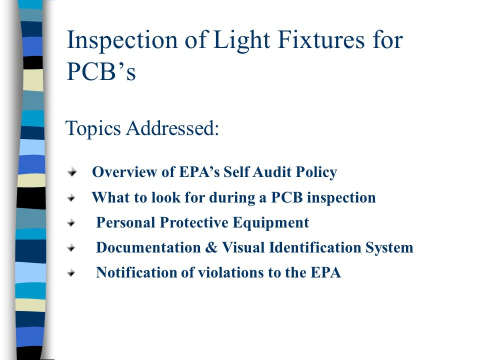 Inspection of Light Fixtures for PCB's