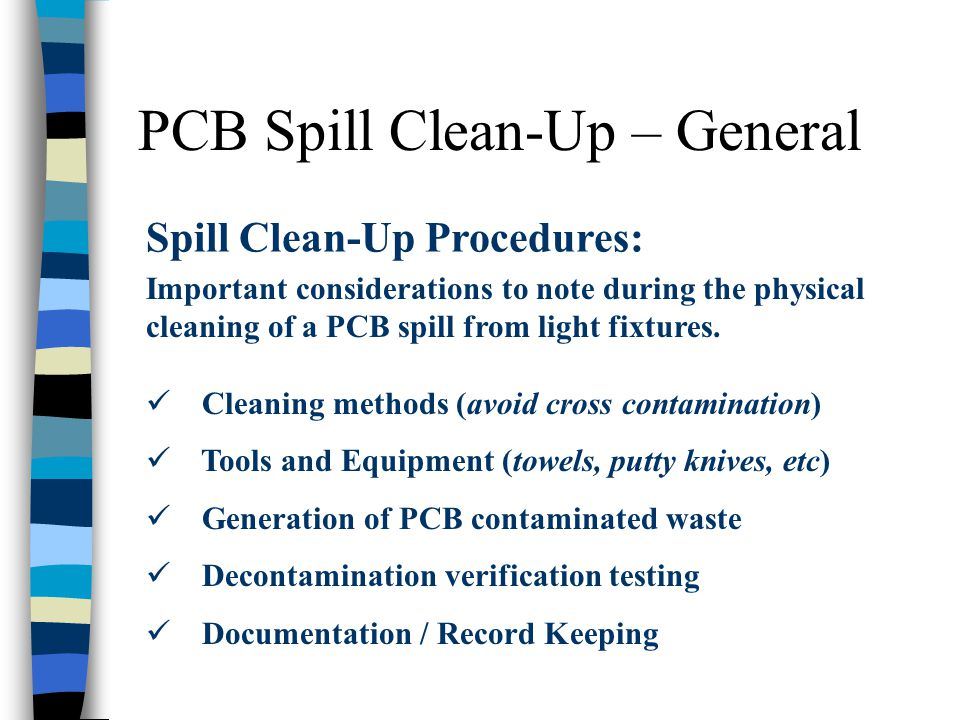 PCB Spill Clean-Up – General