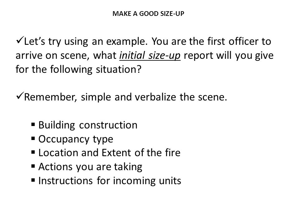 Remember, simple and verbalize the scene. Building construction