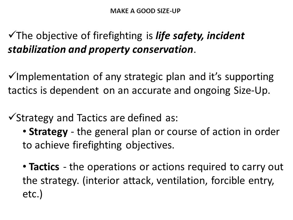 Strategy and Tactics are defined as:
