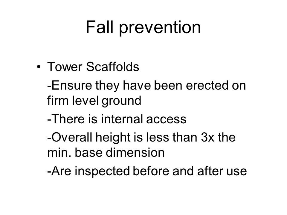 Fall prevention Tower Scaffolds