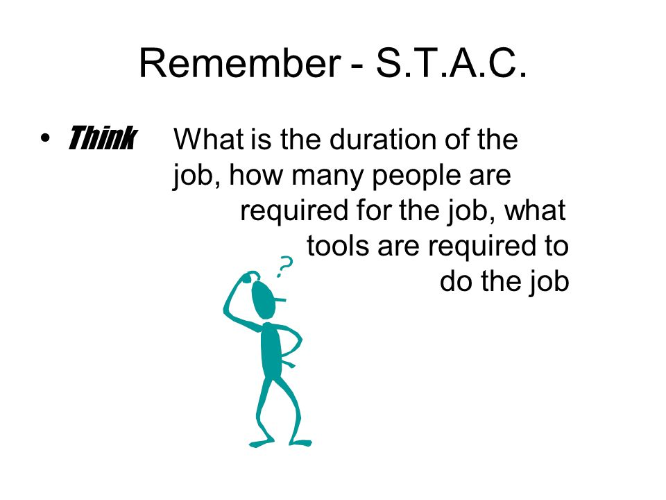 Remember - S.T.A.C.