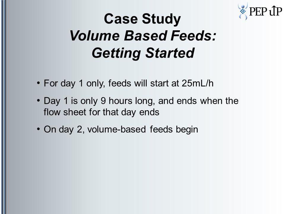 Case Study Volume Based Feeds: